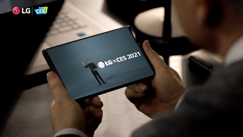 LG anuncia sus más avanzadas soluciones en CES 2021 - proyecto-de-telefono-enrollable-lg-ces-2022