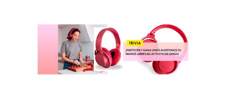 TRIVIA: ¡Participa y gana unos audífonos DJ Bluetooth de Ginga!