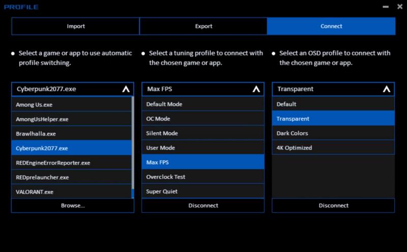 ASUS anuncia la versión Beta de GPU Tweak III - funcion-profile-connect-800x495