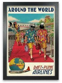 Tras el anuncio de su separación, las compras de artículos de Daft Punk en eBay crecieron por arriba del 500% - poster-daft-punk-around-the-world