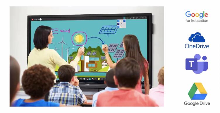 Nuevos monitores y soluciones de ViewSonic 2021 para la educación híbrida y el trabajo remoto - aulas-hibridas