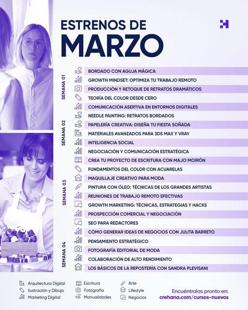 Crehana anuncia 23 nuevos cursos durante marzo - cursos-crehana-marzo