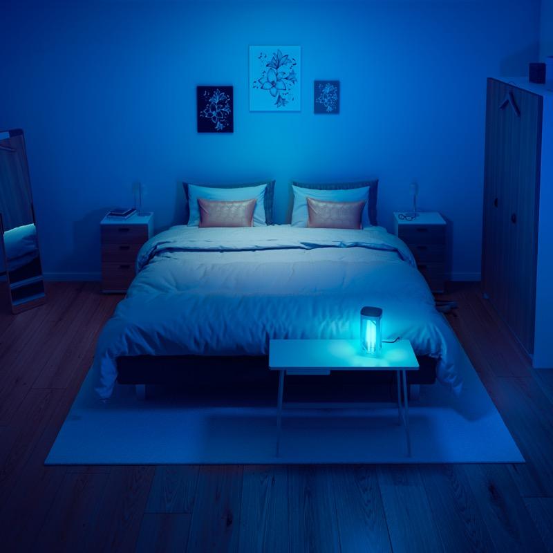 Desinfecta e inactiva los virus de tu hogar con la nueva lámpara de desinfección UV-C de Philips - lampara-philips-uvc-desinfection-bedroom-800x800