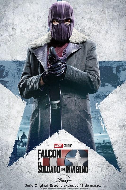 Disney Plus presenta los pósters de personajes de Falcon y el Soldado del Invierno de Marvel Studios - posters-personajes-falcon-y-el-soldado-del-invierno-marvel-studios-2-533x800