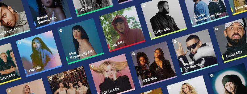 Spotify lanza nueva familia de playlists personalizadas: Spotify Mixes
