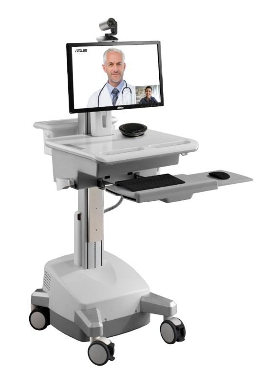 ASUS e Intel se unen para construir carros médicos móviles en apoyo a la lucha contra COVID-19 - asus-telemedicine-cart-carros-medicos-moviles-534x800
