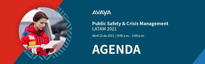 Avaya anuncia Foro virtual sobre Seguridad Pública y atención ciudadana en América Latina - avaya-public-safety-crisis-management-800x251