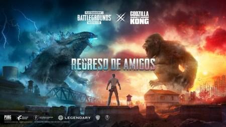 Godzilla y Kong aterrizarán en PUBG MOBILE en colaboración legendaria dentro del juego
