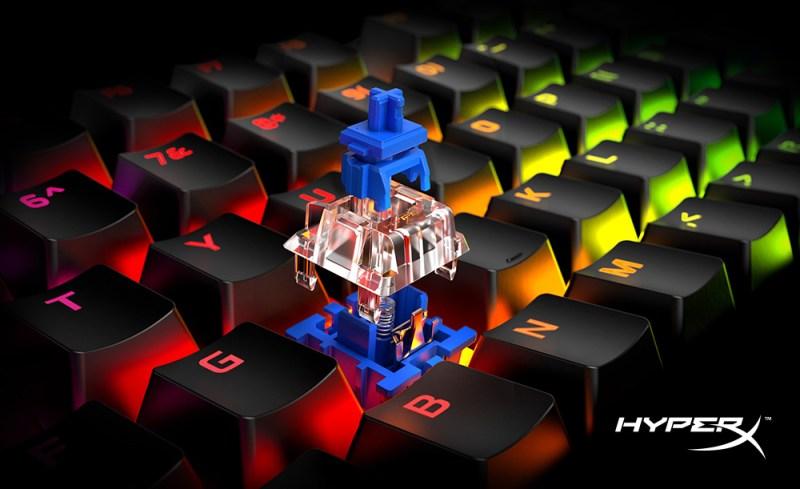 HyperX agrega los interruptores mecánicos Blue a su línea de teclados Alloy Origins Core - hyperx-alloy-origins-800x489