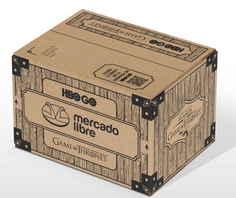 Por primera vez, Mercado Libre cambia las cajas de sus envíos para celebrar el aniversario de Game of Thrones - mercado-libre-got-800x672