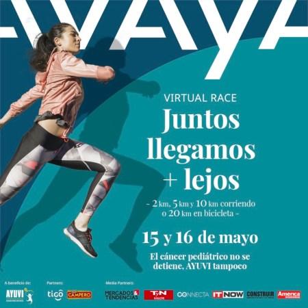 Se parte de la carrera virtual Avaya y apoya a niños con cáncer