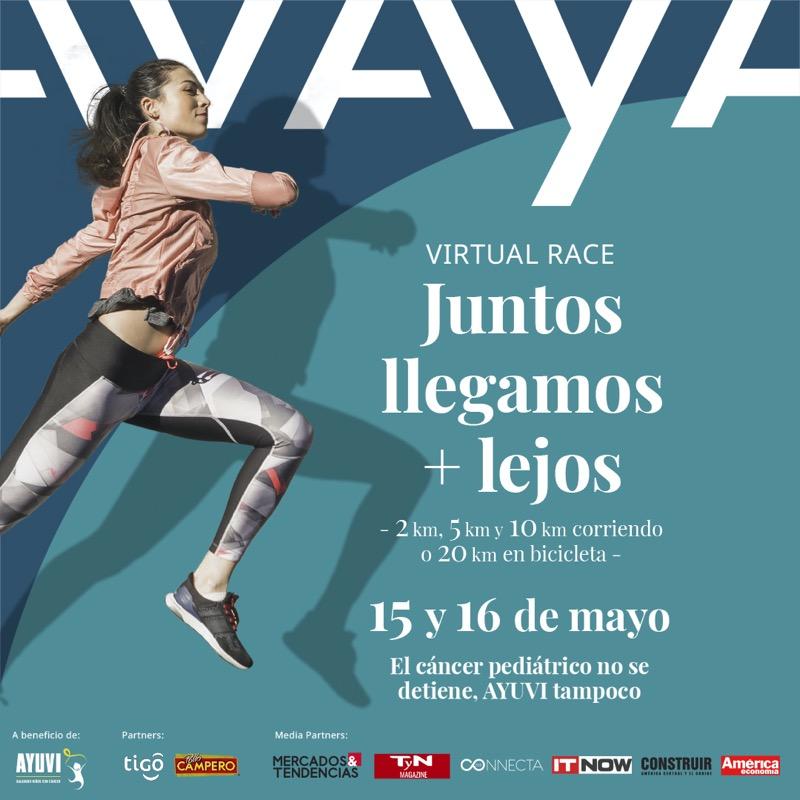 Se parte de la carrera virtual Avaya y apoya a niños con cáncer - avaya-carrera-virtual-800x800
