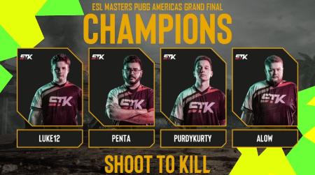 El equipo Shoot To Kill (STK) es el campeón de la ESL PUBG Masters