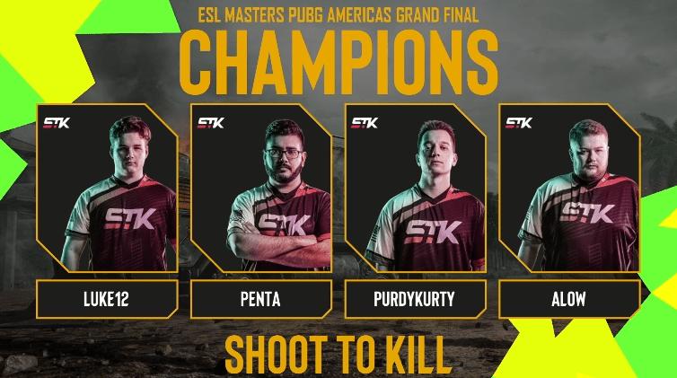 El equipo Shoot To Kill (STK) es el campeón de la ESL PUBG Masters - esl-pubg-masters-stk-champions