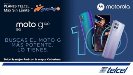 Nuevo moto g100 ¡ya disponible con Telcel!