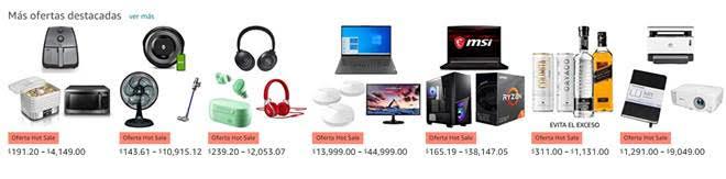 Amazon México revela las categorías más vendidas durante los primeros cuatro días del Hot Sale - ofertas-destacadas-amazon