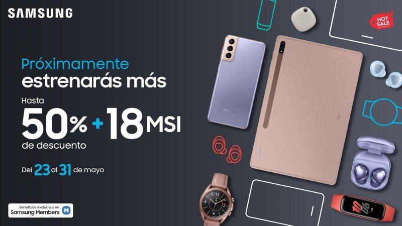 Samsung México con descuentos de hasta el 50% durante el Hot Sale 2021 - samsung-hot-sale-2021-800x450