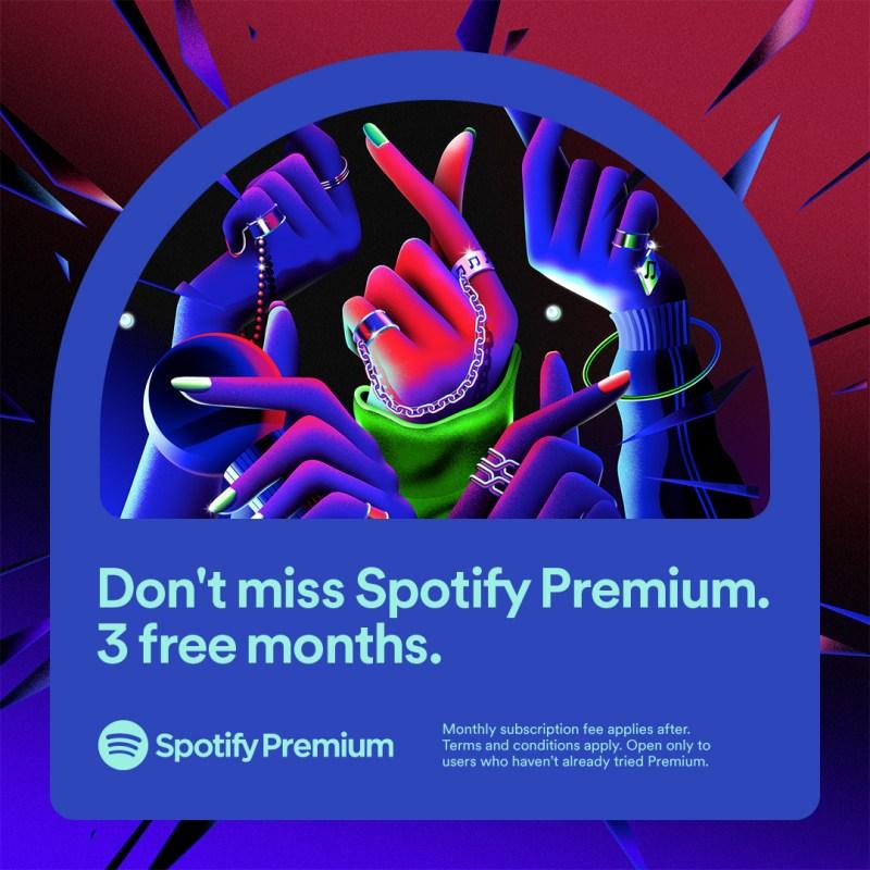 Spotify Premium ofrece tres meses por solo $115 pesos