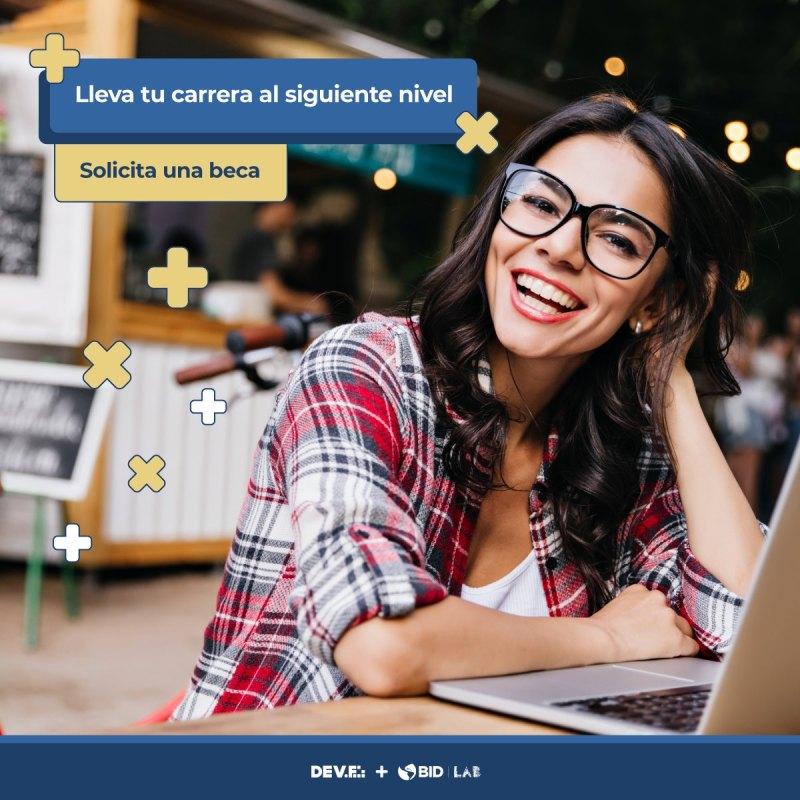 DEV.F lanza programa de becas y financiamiento educativo: DEV.F + BID Lab ¡conoce todos los detalles! - devf-becas-800x800
