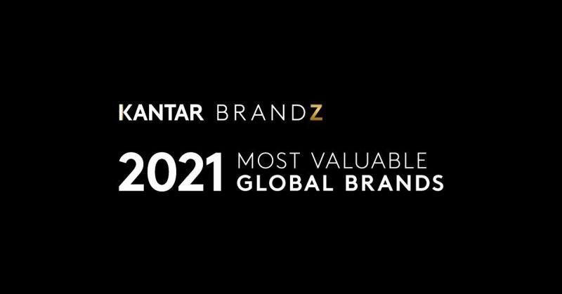 Estudio revela que las marcas más valiosas del mundo han experimentado un crecimiento histórico - marcas-mas-valiosas-del-mundo-brandz-2021-800x419