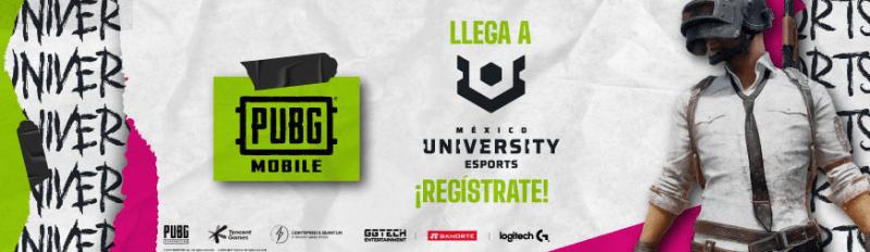 PUBG MOBILE formará parte del University Esports México por primera vez - pubg-mobile-university-esports-mexico-800x232