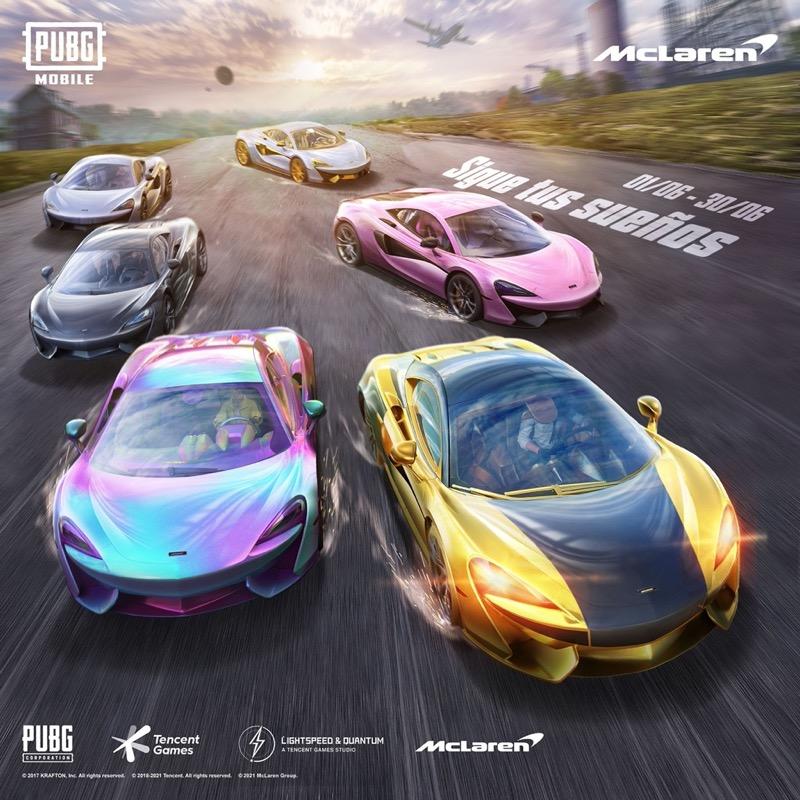 PUBG MOBILE y McLaren se asocian para traer el 570S Coupé al juego - pubg-mobile-y-mclaren-autos-deportivos-800x800