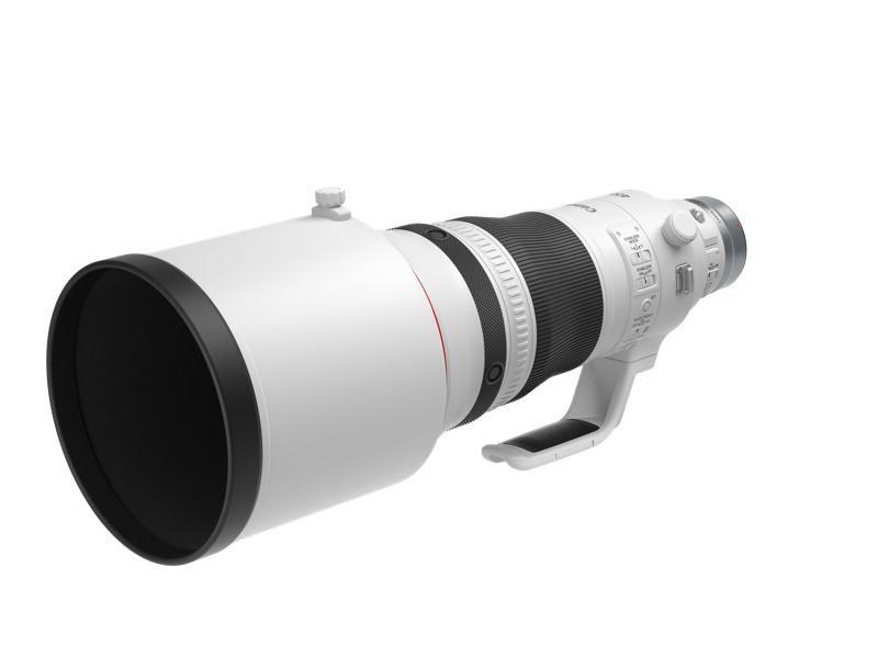Canon lanza tres innovadores lentes para fotógrafos profesionales - rf400mm-f28-l-is-usm-front-slant-with-hood