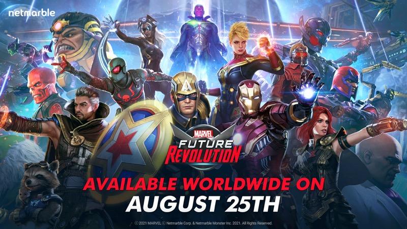 MARVEL Future Revolution, se lanzará el 25 de agosto para dispositivos iOS y Android