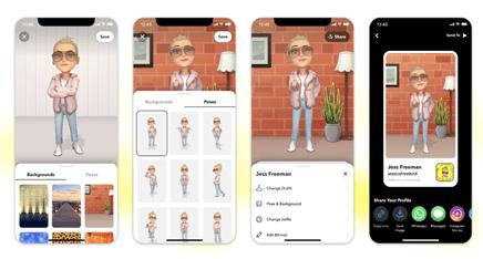 Snapchat estrena Bitmoji 3D: nuevo look, nueva dimensión - snapchat-bitmoji-3d