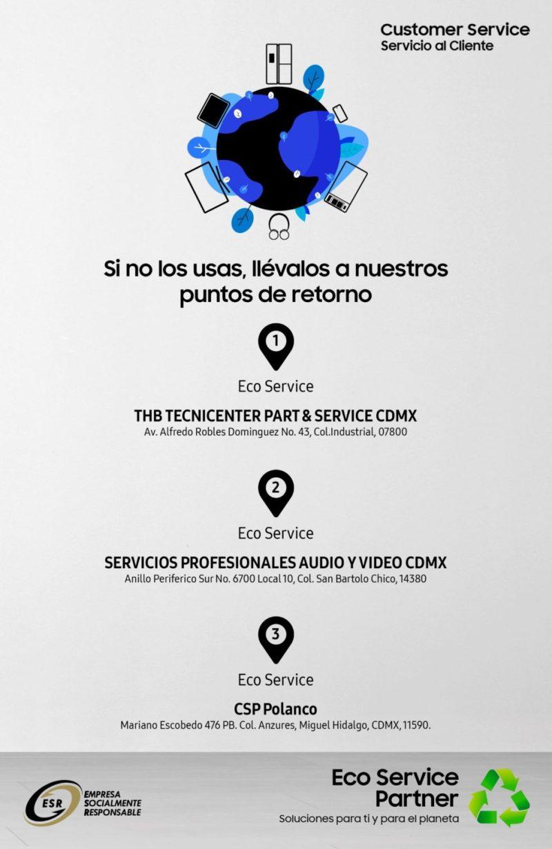 Eco Service, puntos de retorno para recolectar residuos electrónicos de productos Samsung - eco-service-direcciones-832x1280