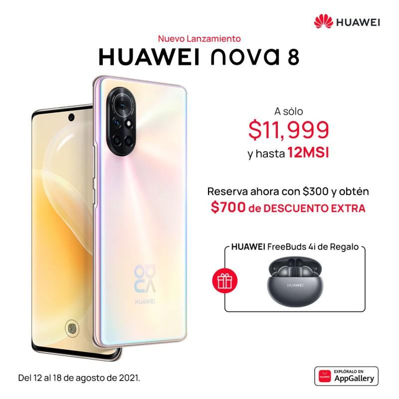 HUAWEI nova 8 ¡conoce sus características y precio en México! - huawei-nova-8