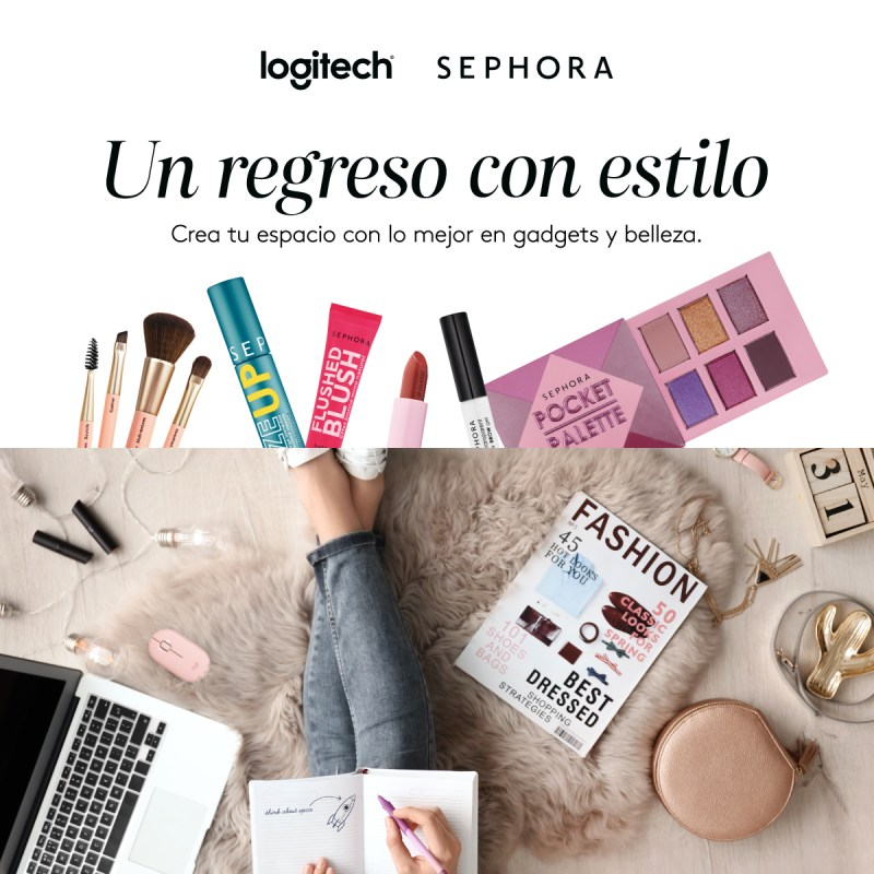 Logitech y Sephora México presentan un kit especial para un regreso a clases con estilo - logitech-sephora