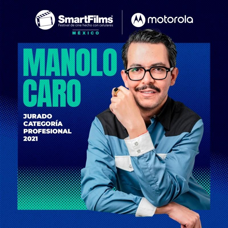 SmartFilms México y Motorola revelan a los miembros que conforman su Jurado 2021 - manolo-caro-jurado-smartfilms-mexico-2021-1280x1280