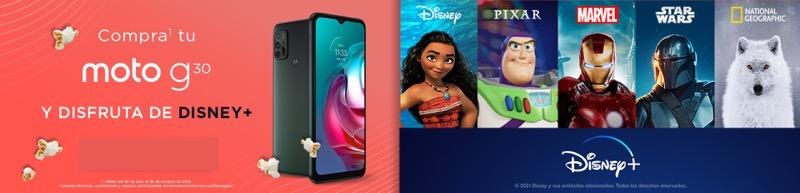 Motorola México obsequiará un mes de suscripción a Disney Plus al adquirir unmoto g30omoto g60