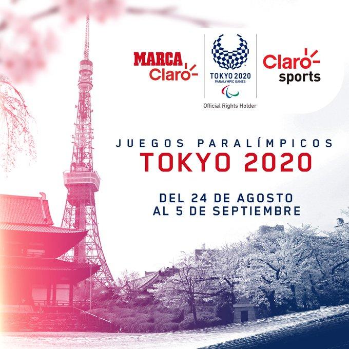 Los Juegos Paralímpicos Tokyo 2020 podrás a través de Claro Sports y Marca Claro