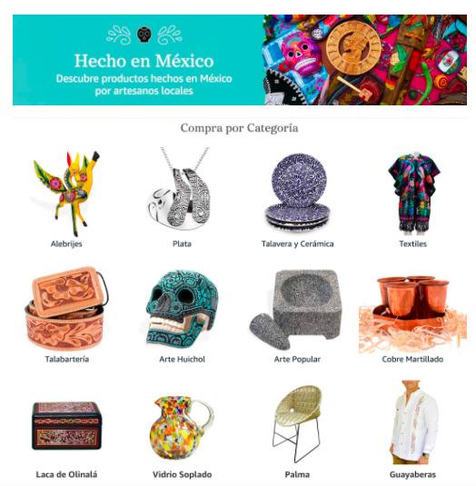 """""""Hecho en México"""": Tienda especial de Amazon México de productos hechos a mano por artesanos de todo el país - hecho-en-mexico-amazon-mx-2021"""