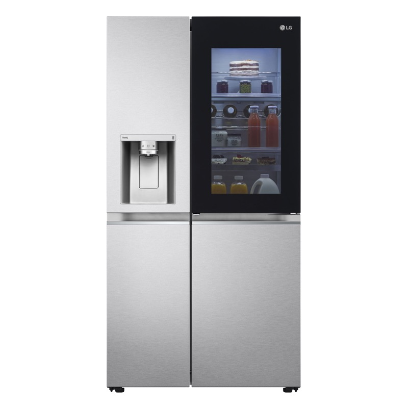 LG presenta sus nuevos refrigeradores InstaView Door-in-Door 2021 - refrigador-instaview-front-lighton