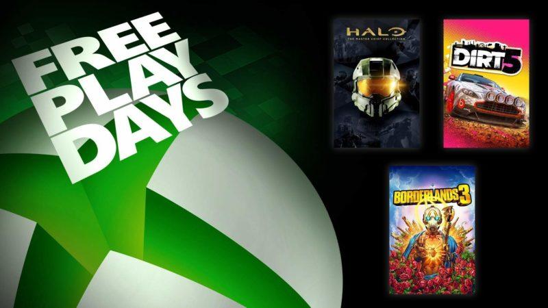 Días de juego gratis Xbox: Halo: The Master Chief Collection, Borderlands 3 y Dirt 5
