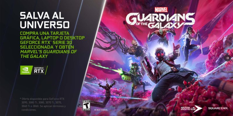 Obtén gratis Marvel's Guardians of the Galaxy con NVIDIA GeForce RTX - marvels-guardians-of-the-galaxy-gratis-con-nvidia-1280x637
