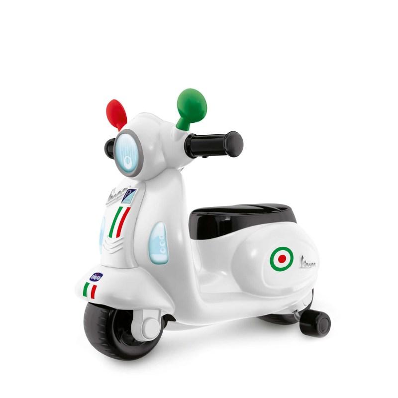 Vespa de Chicco, una motocicleta con la que los niños vivirán aventuras mientras estimulan su desarrollo motriz