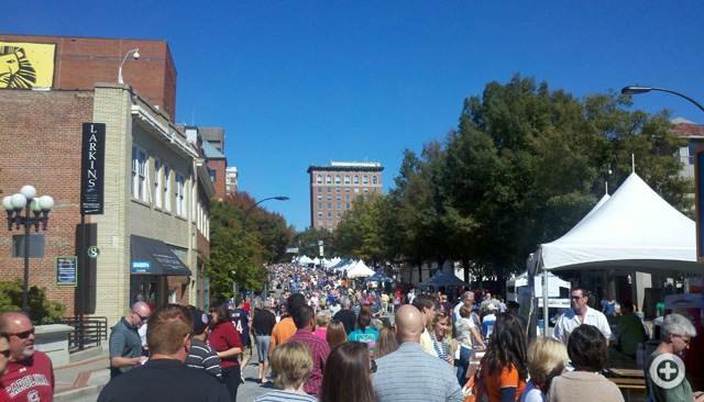 2011 Fall for Greenville, Main Street, downtown Greenville, SC