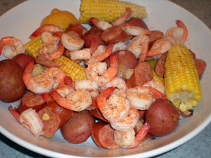 Easy Low Country Boil at home.