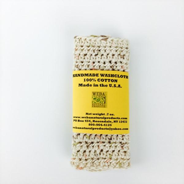Handmade cotton washcloth