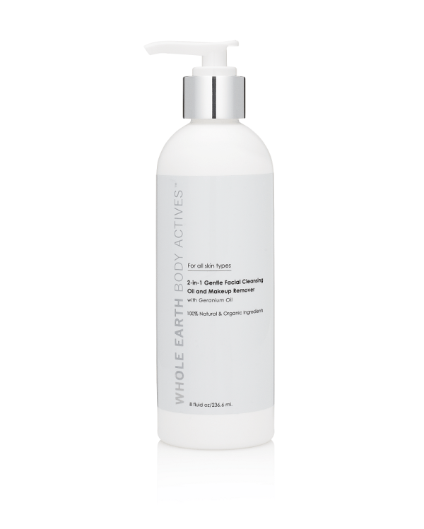 Whole Earth Body Actives Gentle Facial Cleansing Oil and Makeup Remover