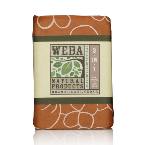Botanical 3 in 1 bar soap with cedarwood and sage oils and calendula flowers