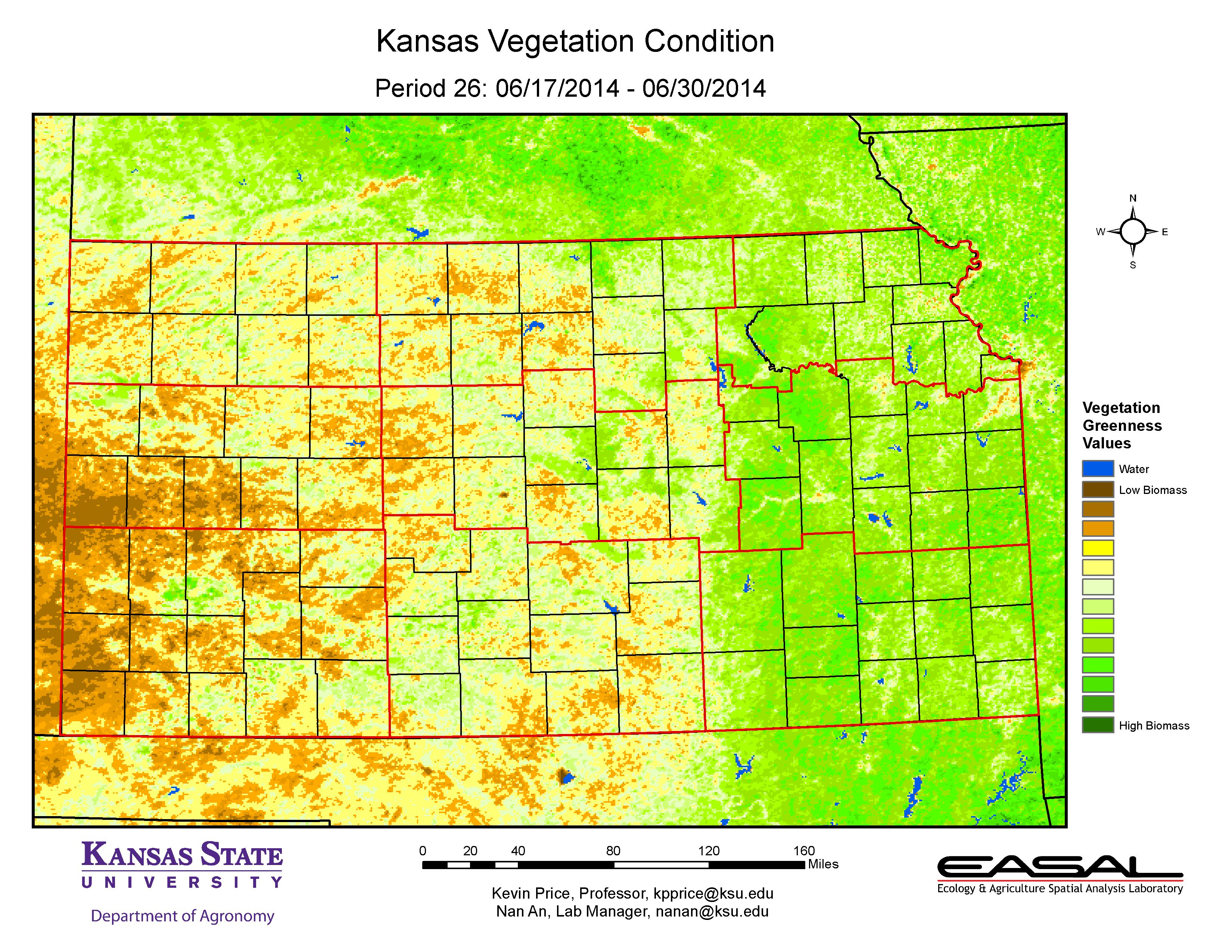 K State Agronomy Eupdate Issue 464 July 3rd Comparative Vegetation Condition Report