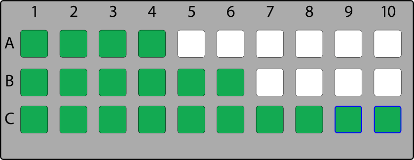 One-dimensional seating map