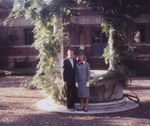 August '59 in courtyard