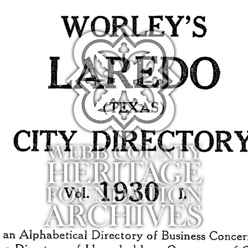 Scan of Laredo City Directory from 1930
