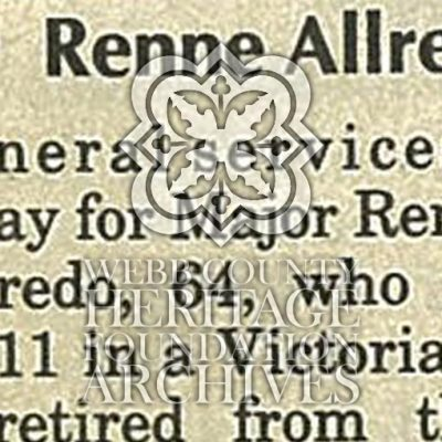 Allred, Renne III Obituary